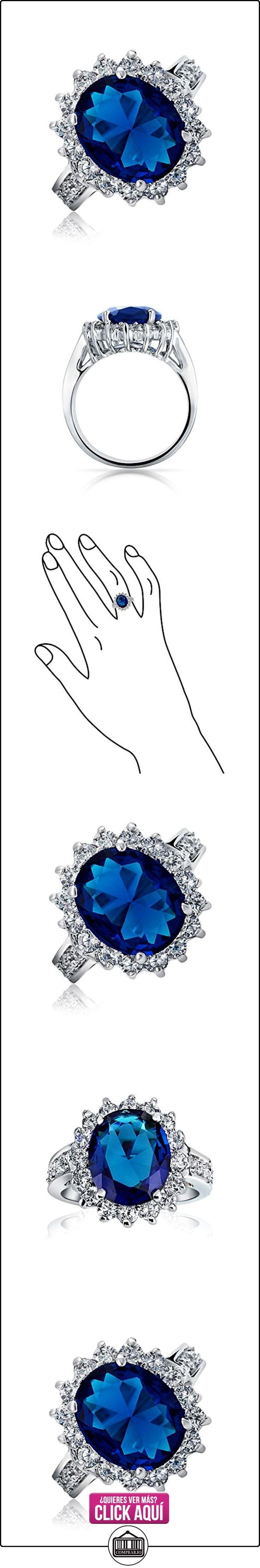 Bling Jewelry estilo Kate Middleton 5ct Oval Color Zafiro CZ Anillo de Compromiso  ✿ Joyas para mujer - Las mejores ofertas ✿ ▬► Ver oferta: https://comprar.io/goto/B01IWQNVRW