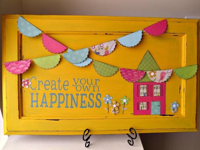 Cupboard door craft~ Create your own happiness