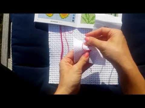 Lär dig att brodera korsstygn - YouTube