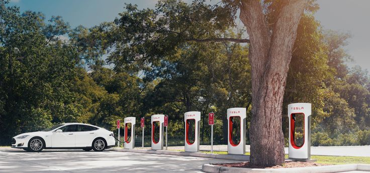 Tesla Supercharger charging stations