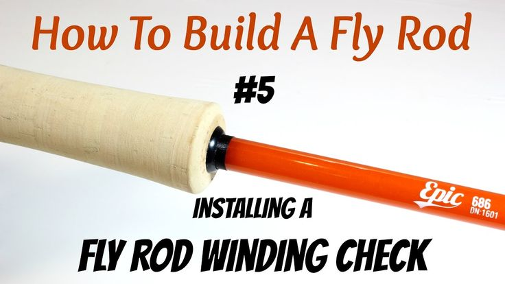 Rod Building - Learn how to install a fly rod winding check.  Check out even more building steps at  http://howtobuildaflyrod.com/