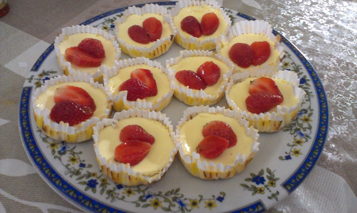 My homemade cheesecake cupcakes; perfect for weekend! :9