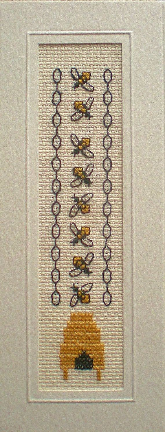 Hey, I found this really awesome Etsy listing at https://www.etsy.com/uk/listing/209218457/honey-bees-cross-stitch-bookmark-kit