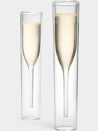 Modern champagne glasses #gifts #foodie