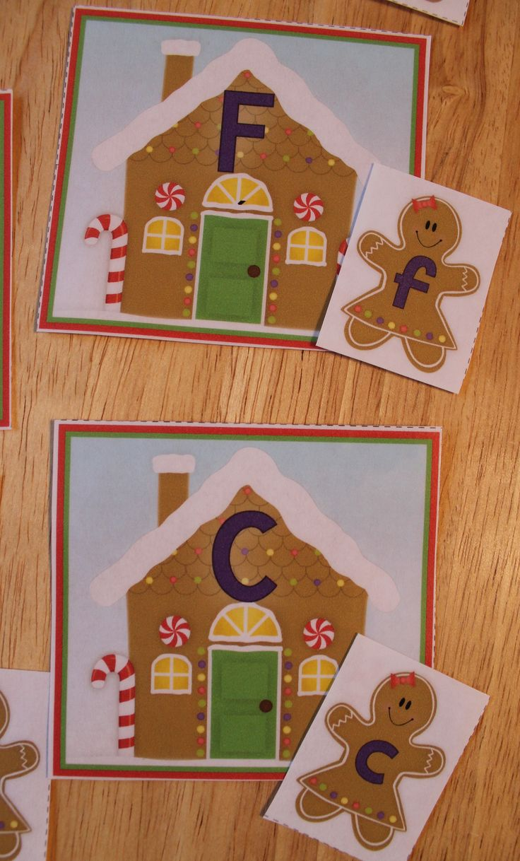 Free gingerbread ABC matching activity.