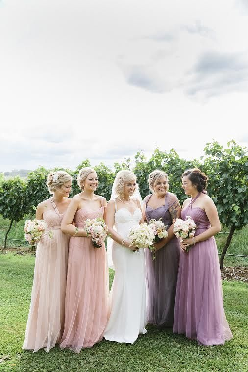 Laura's bridesmaids in our Annabelle gown - Available at Bridesmaids Only xx