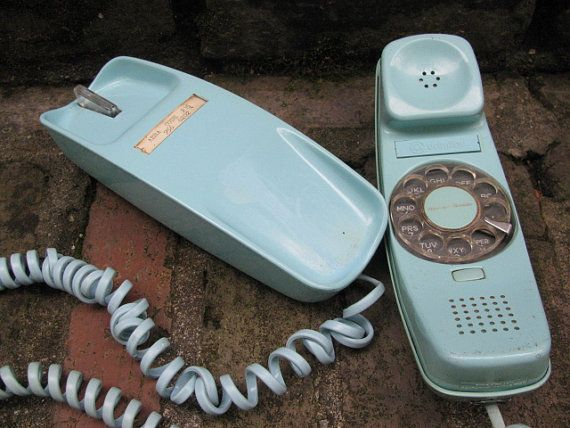 Pale Blue Rotary Trimline Phone Two Toned by GoodOldDaysTreasures, $30.50