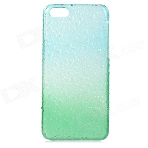 Water Drops Pattern Protective PC Back Case for Iphone 5C - Translucent Green + Translucent Blue
