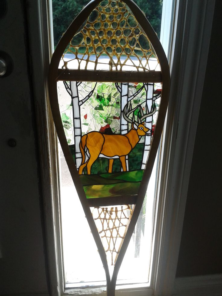 Stained Glass Deer Snowshoe. The stained glass could be better, but love the design
