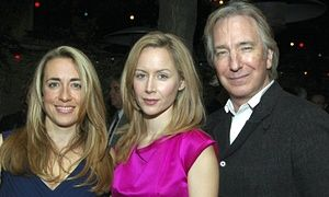 "2006 - The opening night of ""My Name i Rachel Corrie"" - from left to right ... Katherine Viner, Actor Megan Dodds and Alan Rickman. Photograph: Rob Loud/Getty Images. ... The article is written by Rachel Corrie's father, Craig; it's a very, very moving article. I highly recommend it."