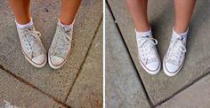 sbiancare scarpe bianche