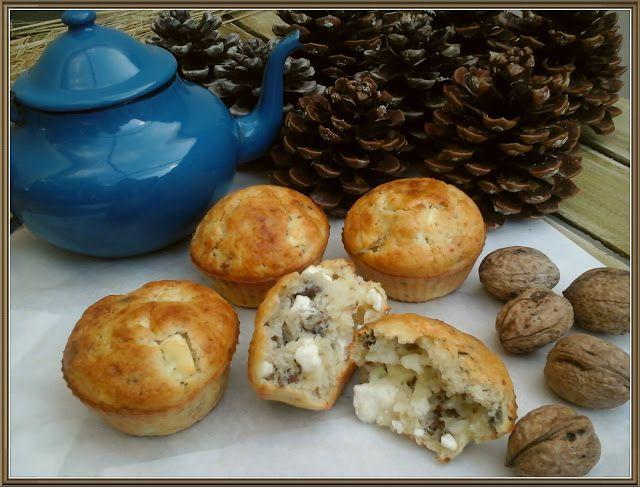 Βουτυρόμελο: Εύκολα μάφιν με φέτα και καρύδια