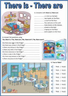 There is - there are Language: English Grade/level: Elementary School subject: English as a Second Language (ESL) Main content: There is - there are Other contents: there is, there are, there isn't, there aren't, furniture, food