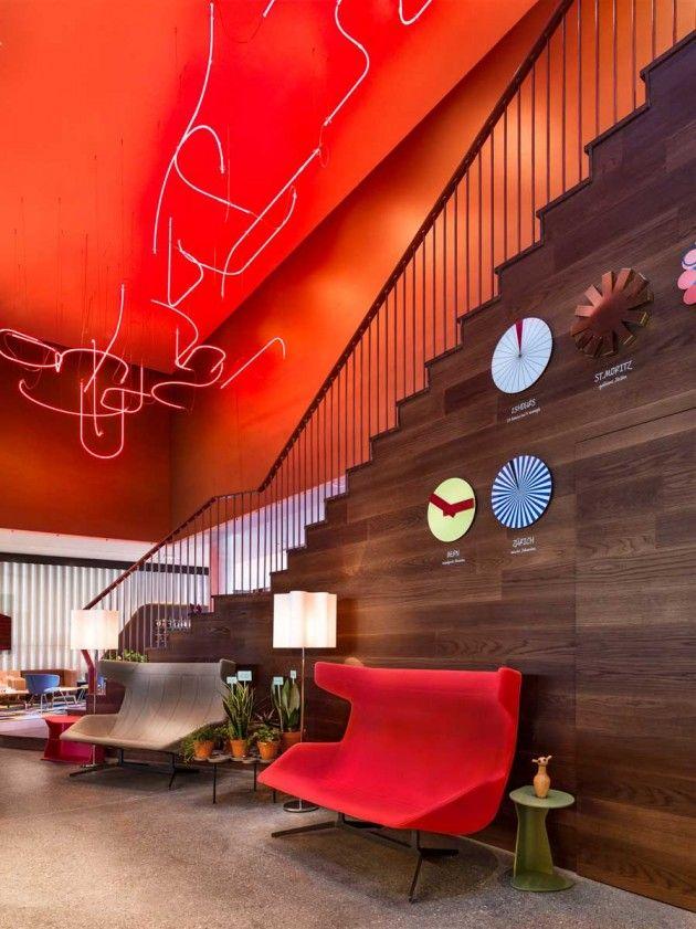 Alfredo Häberli Design Development have completed the interior design of the 25hours Hotel, located in Zürich West, Switzerland
