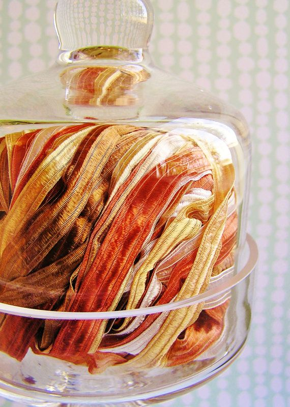 Copper and Gold Fondant stripe pearl shimmer by HaberDashingShoppe, $2.99