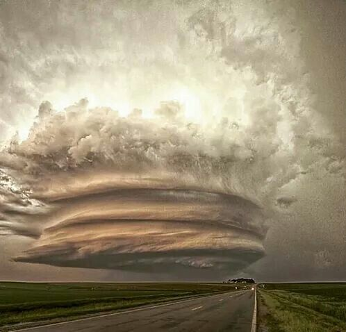 AWESOME!!! Super Cell Thunder Storm the most intense and severe of all Thunder Storms!!!