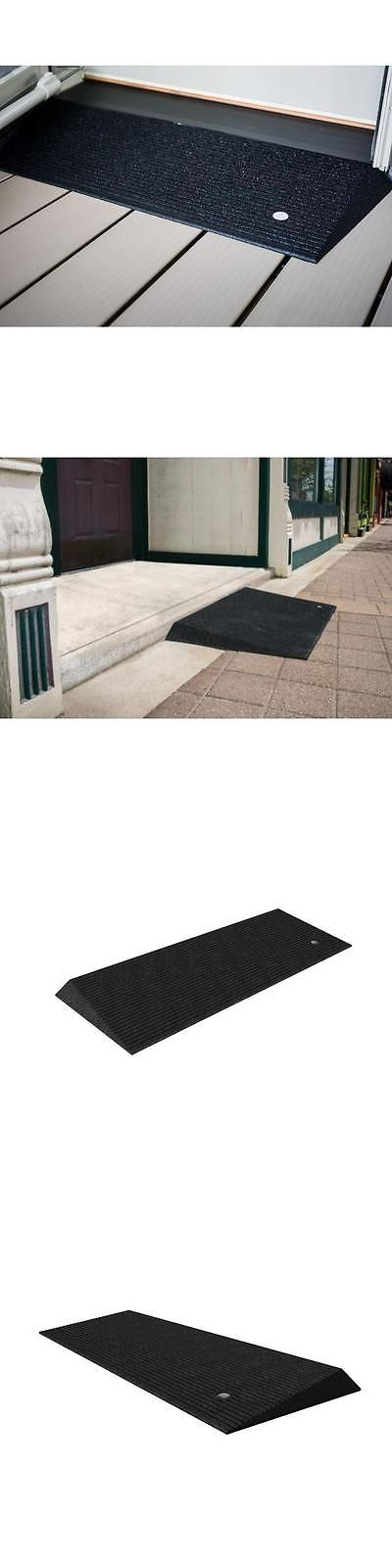 Access Ramps: Ez-Access Rubber Threshold Wheelchair Handicap Ramp With Beveled Edges 1.5 Rise BUY IT NOW ONLY: $81.5