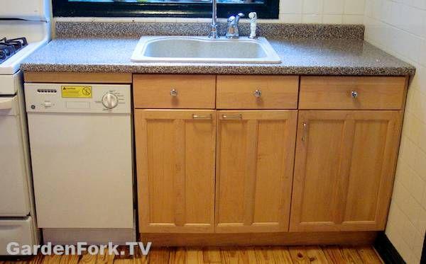 Narrow Countertop Dishwasher : dishwasher installation diy dishwasher custom diy diy living ...