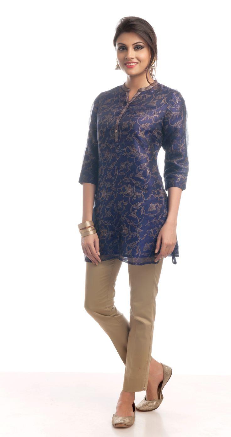 #kota # silk blend # gold khari print