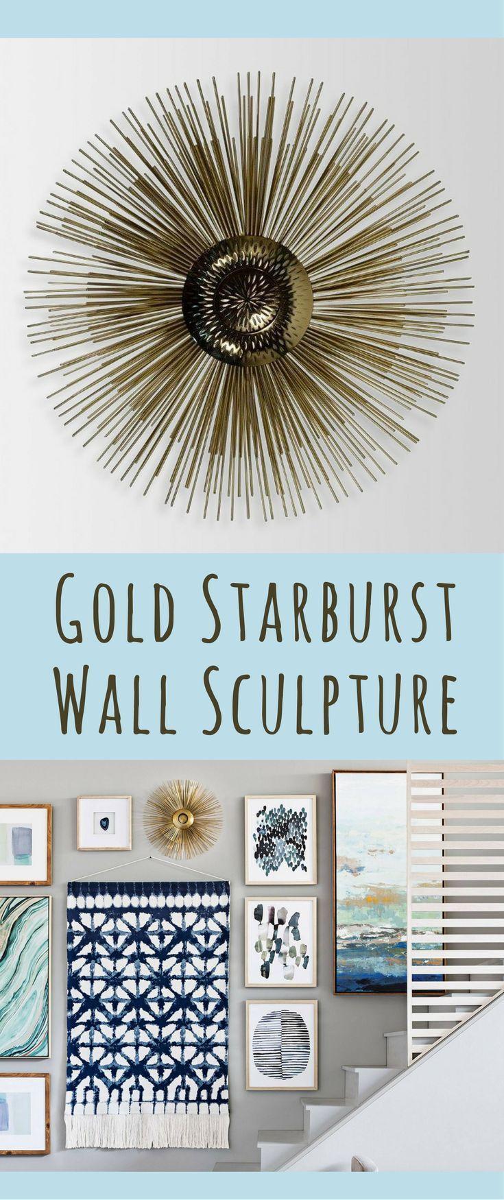 Best 25 modern wall sculptures ideas on pinterest modern gold starburst decorative wall sculpture starburst decor sunburst sculpture wall art modern amipublicfo Choice Image