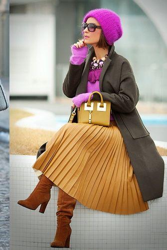 Плиссированные юбки-2017: фото, с чем носить юбку-плиссе миди, макси и мини