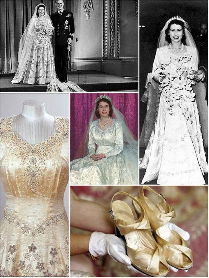 Royal Wedding Dresses Of The Past Princess Elizabeth