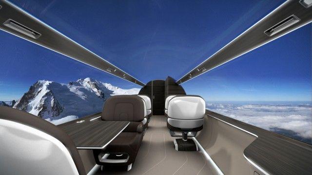Neues Flugzeug-Konzept Fernseher statt Fenster