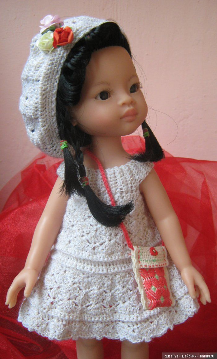 Вяжем сарафанчик / Paola Reina, Antonio Juan и другие испанские куклы / Бэйбики. Куклы фото. Одежда для кукол