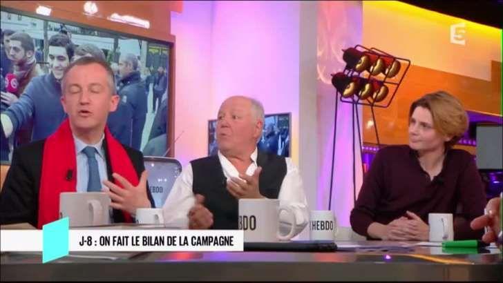 Christophe Barbier comptait parmi les invités de l'émission de France 5 C L'Hebdo ce samedi 15 avril. Avec Marc Jolivet, il venait présenter son spectacle dédié à la politique.