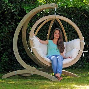 Globo Wooden Garden Swing Seat Hammock & Stand