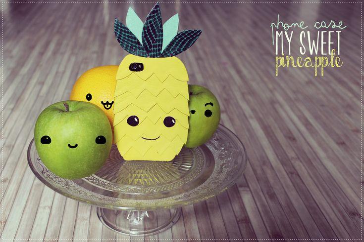 Tiboudnez: ♥ DIY - Le téléphone qui rêvait d'être un Ananas - ♥ tiboudnez, blog, do it yourself, diy, tuto, mode, beauté, blogueuse, lifestyle, glitters