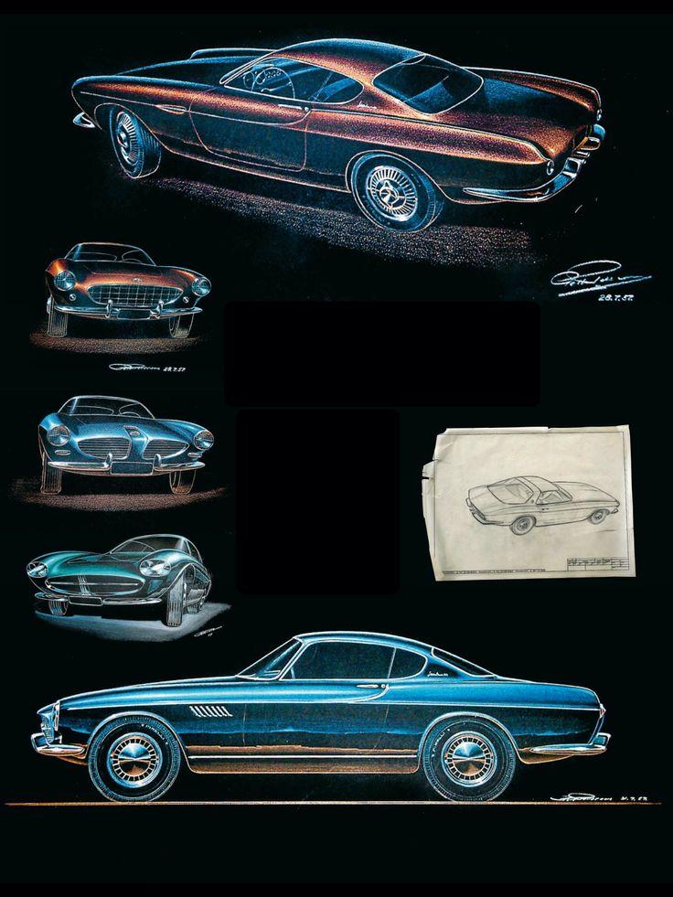 Volvo P1800 Design drawings