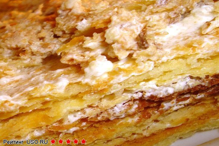 Вкусный торт наполеон пошаговый фоторецепт
