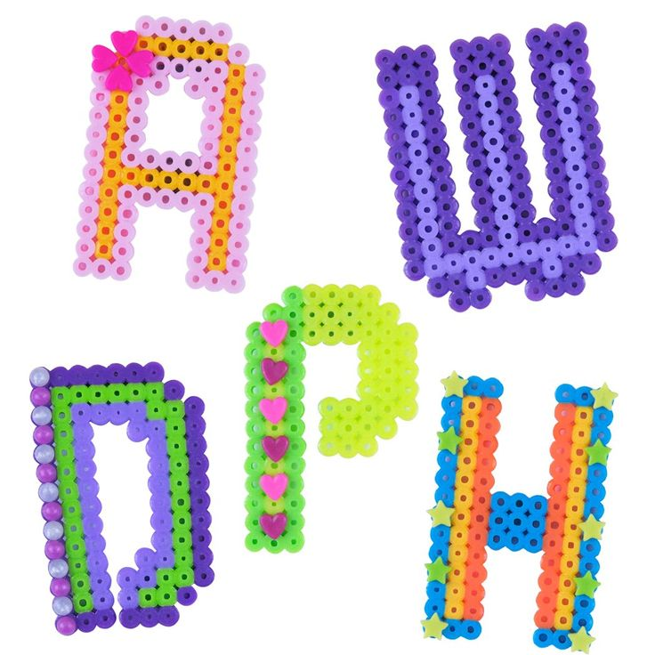 perler alpha charms fused bead kit cross