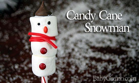 Candy Cane Snowman