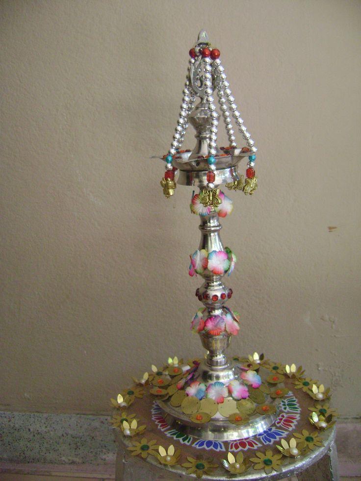 Kuthu Vilakku Decoration Aarti Plates Pinterest