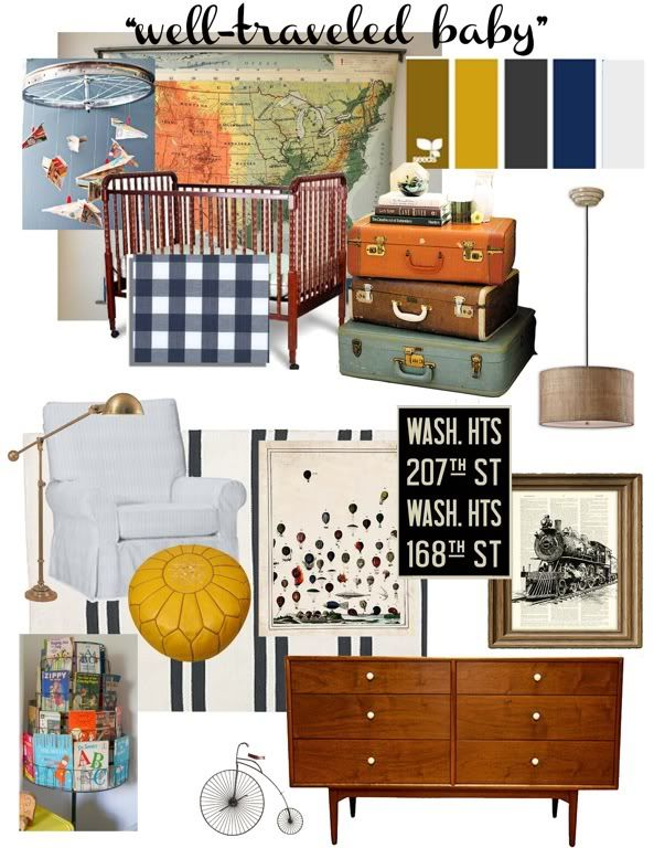 Travel Themed Nursery For A Little One One Day