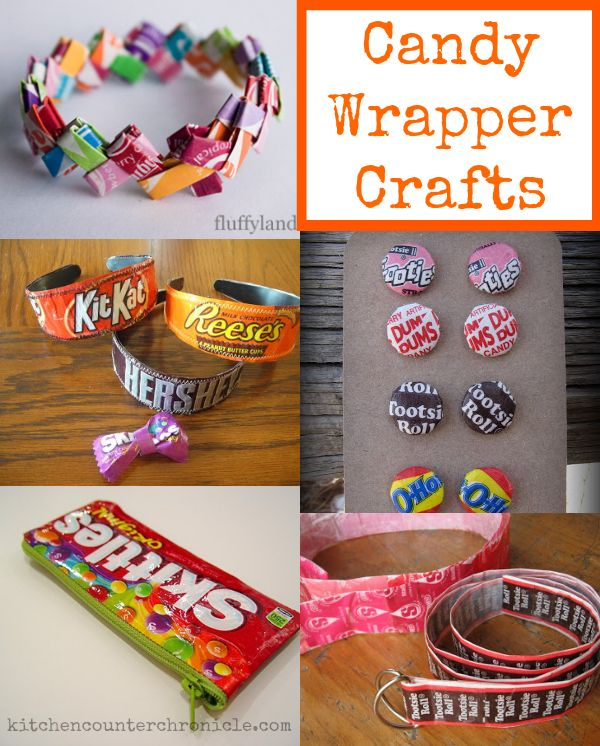Candy Wrapper Crafts & What to do with the Halloween Candy - Halloween crafts that are fun and eco-friendly. Plus, great ideas for how to use up Halloween candy.