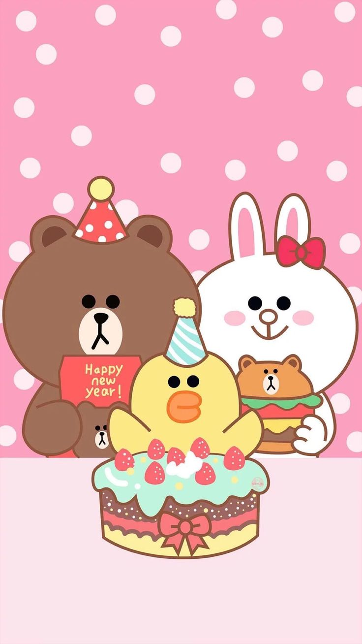 Wallpaper iphone cantik - Friends Wallpaper Lock Screen Wallpaper Line Friends Iphone 7 Iphone Wallpapers Line Brown Bear Sanrio Papo Sally