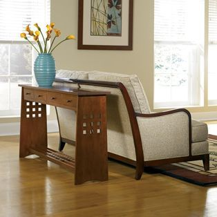 The Simple But Elegant Design Of This Stickley Sofa Table Can Help Add  Visual Interest To
