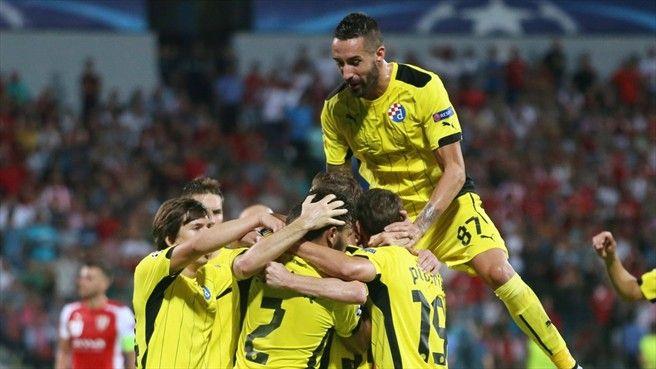 Skënderbeu sunk by last-gasp Dinamo winner  Skënderbeu 1-2 Dinamo Zagreb