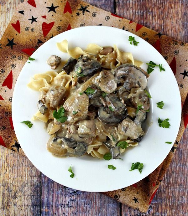 Slow Cooker Lamb Stroganoff #Recipe