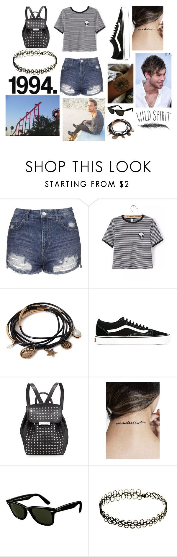 """Six flags with Luke and Ashton"" by lukehemmings7-14 ❤ liked on Polyvore featuring Topshop, WithChic, Forever 21, Vans, Alexander Wang, Ray-Ban and INDIE HAIR"