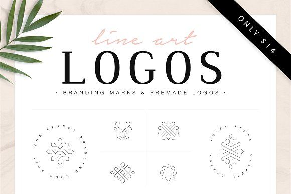 Line Art Logos by Davide Bassu on @creativemarket