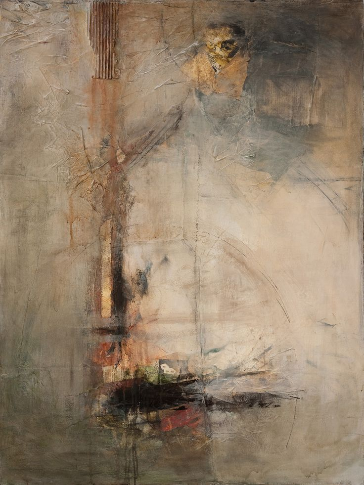 "Jennifer Perlmutter, ""Beyond"", mixed media on canvas"