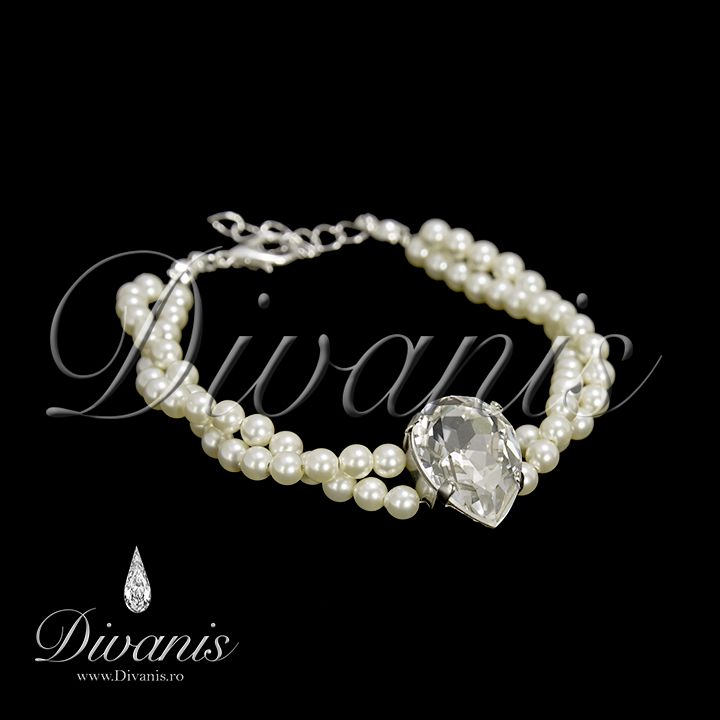 Doriath Bracelet with Swarovski crystals and pearls http://www.divanis.ro/bra-ara-doriath.html