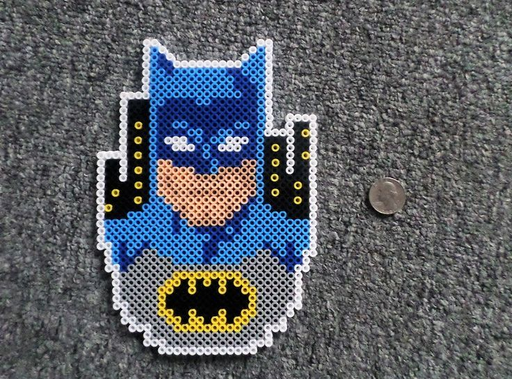 Long Black Fingers : Batman & Superman Perler Beads