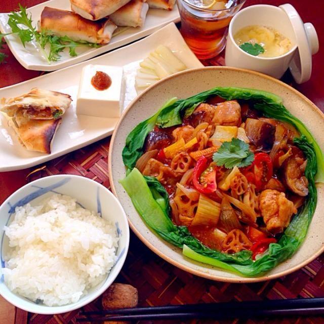To:harupyonsさん はるかさん✨ リスナップもありがとうございます❗ - 94件のもぐもぐ - Today's Dinner前菜・ウドと豚肉の春巻き・イタリアン酢豚・卵と豆腐の中華スープ by honeybunnyb