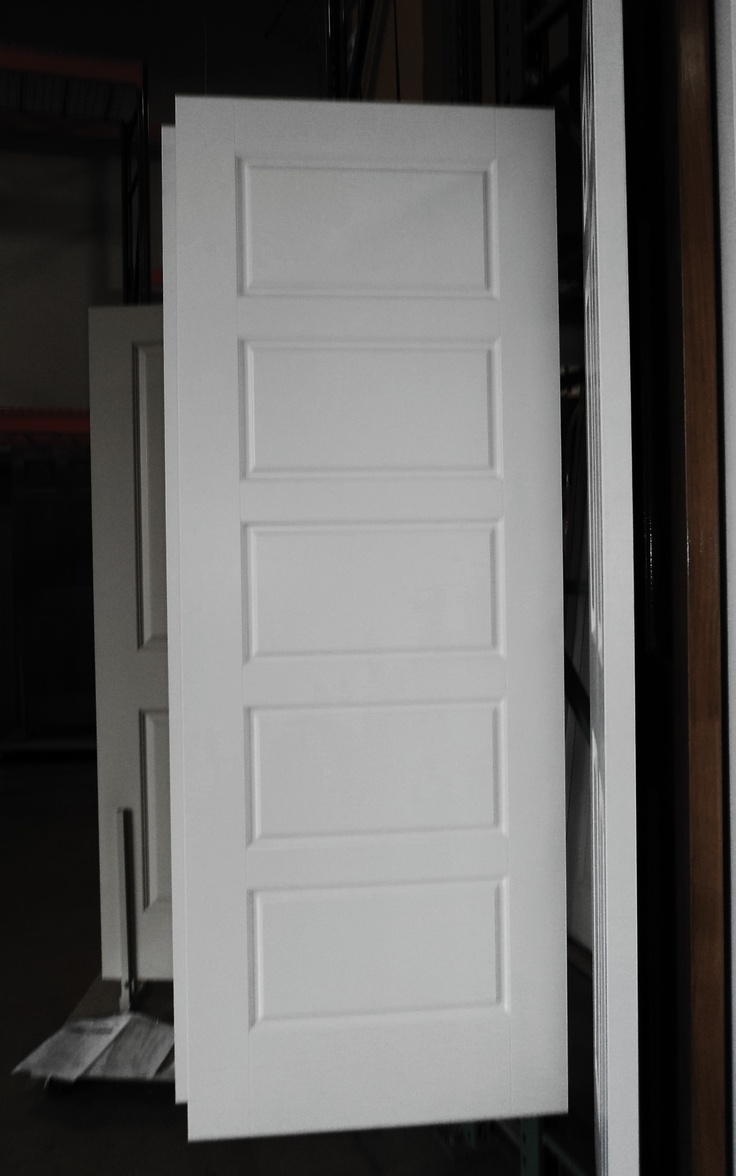 5 panel painted white riverside smooth masonite hollow for Door 3 facebook