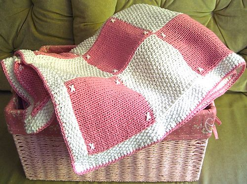 Quilt Look Blanket Pattern By Patons Knitting Baby